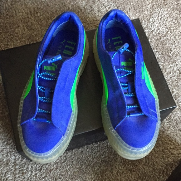 detailed look 186f2 3e48d Women's 7.5 Fenty Puma Cleated Creepers